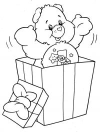 Подарки, плюшевый мишка Детские раскраски зима распечатать