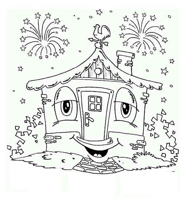 Счастливого нового года Зимние раскраски для малышей