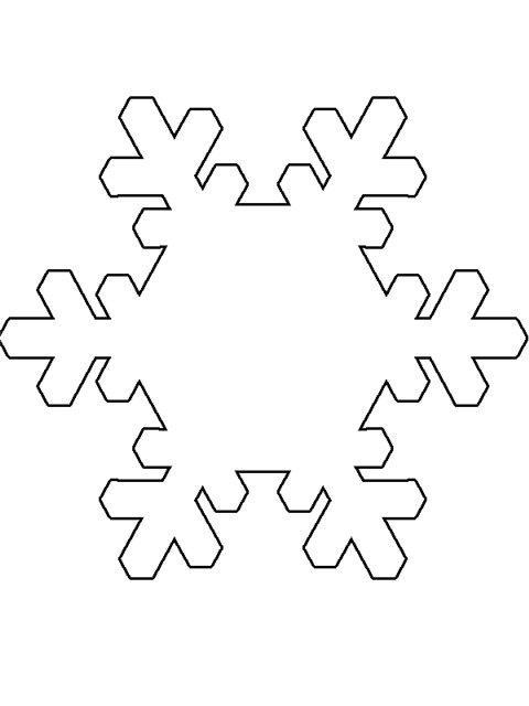 Снежинки Рисунок раскраска на зимнюю тему