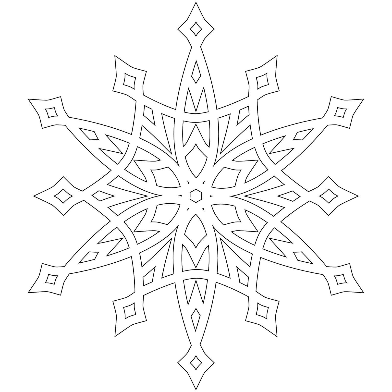 Красивые снежинки Раскраски для детского сада