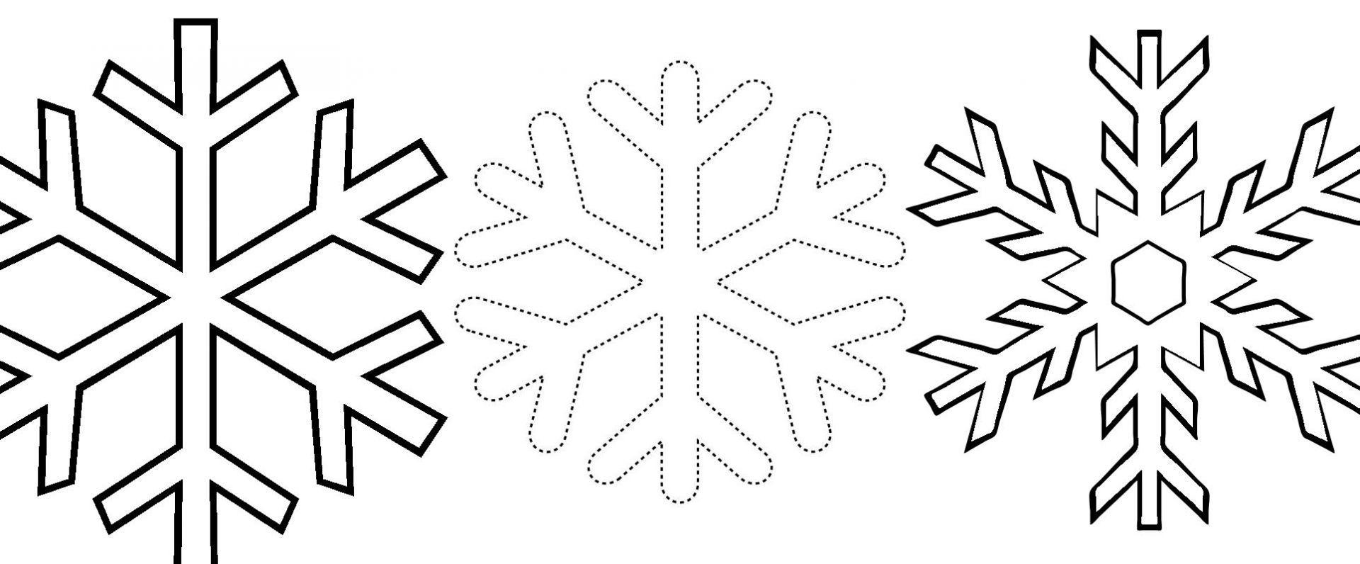 Три снежинки Раскраски для детского сада