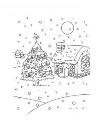 Преддверии нового года Детские раскраски зима распечатать