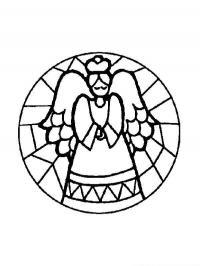 Шар с ангелочком Детские раскраски зима распечатать