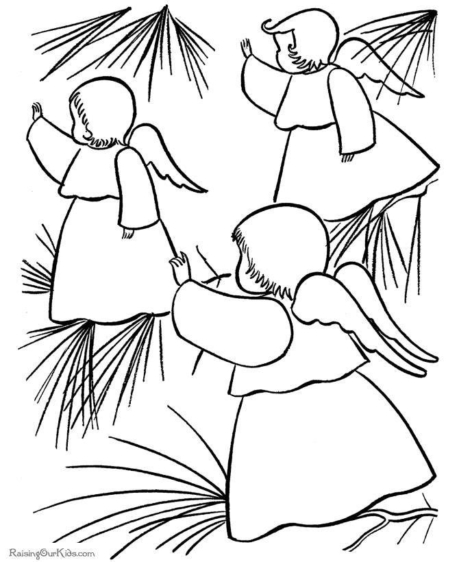 Ангелочки Детские раскраски зима распечатать