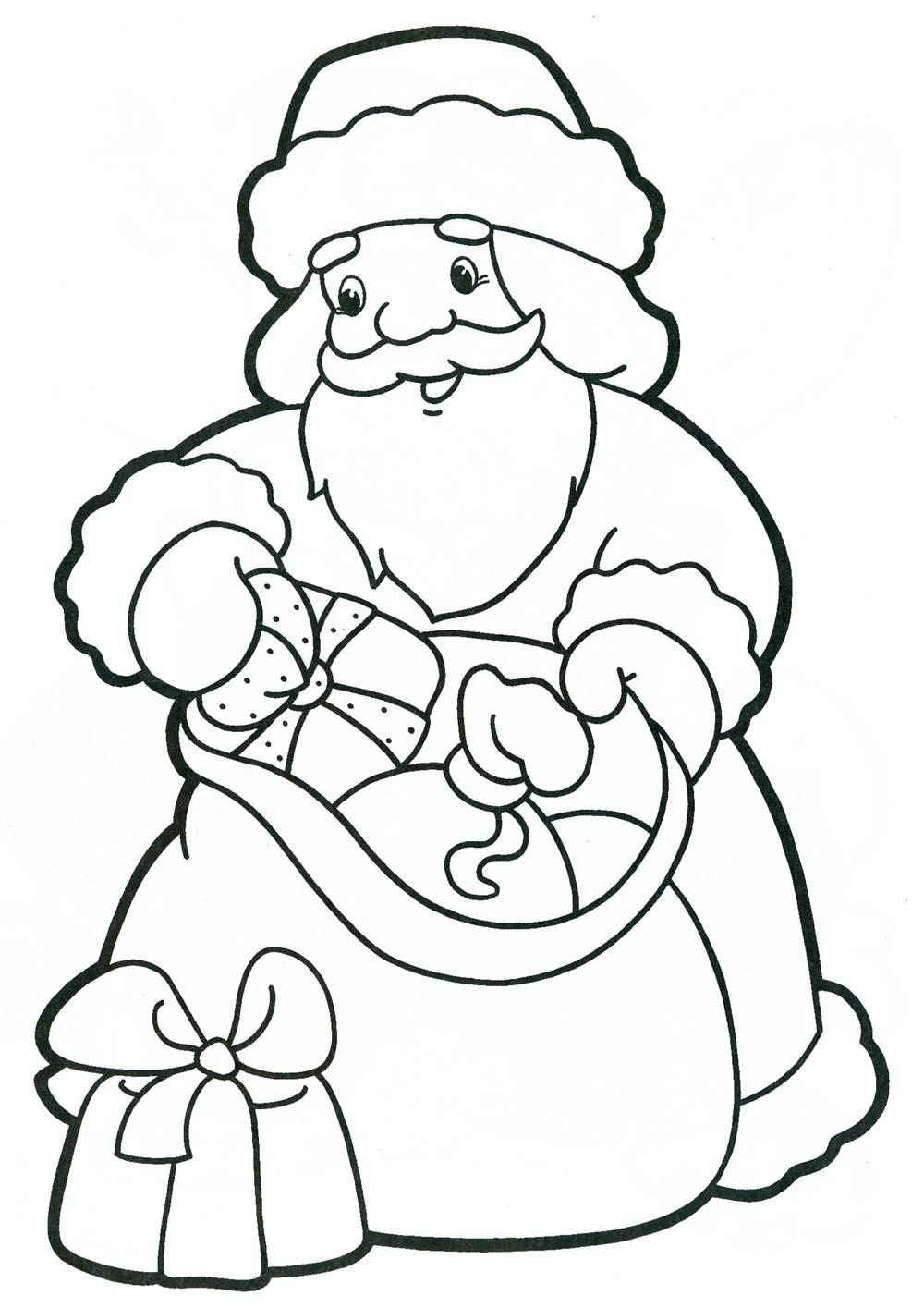 Новый год Зимние рисунки раскраски