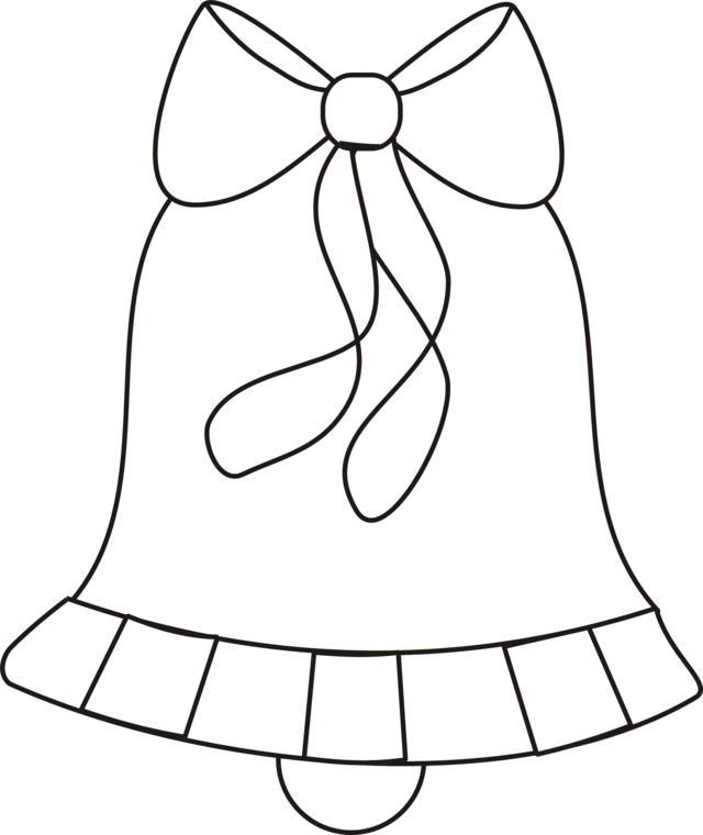 Колокольчик с бантиком Зимние раскраски для мальчиков
