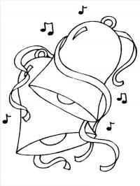 Колокольчики с нотами для плаката Раскраски зима скачать бесплатно