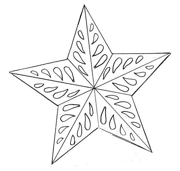 Звезда макушка Детские раскраски зима распечатать