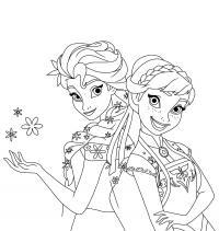 Принцессы сестры холодного сердца Зимние раскраски для мальчиков