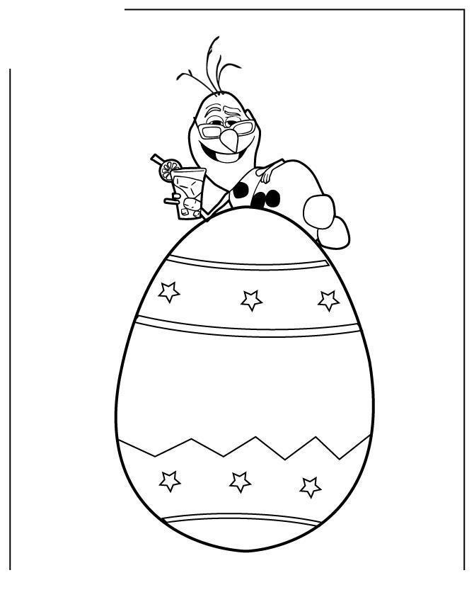 Снеговик олаф на яйце Раскраска зима пришла