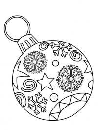 Орнамент на шаре Детские раскраски зима распечатать