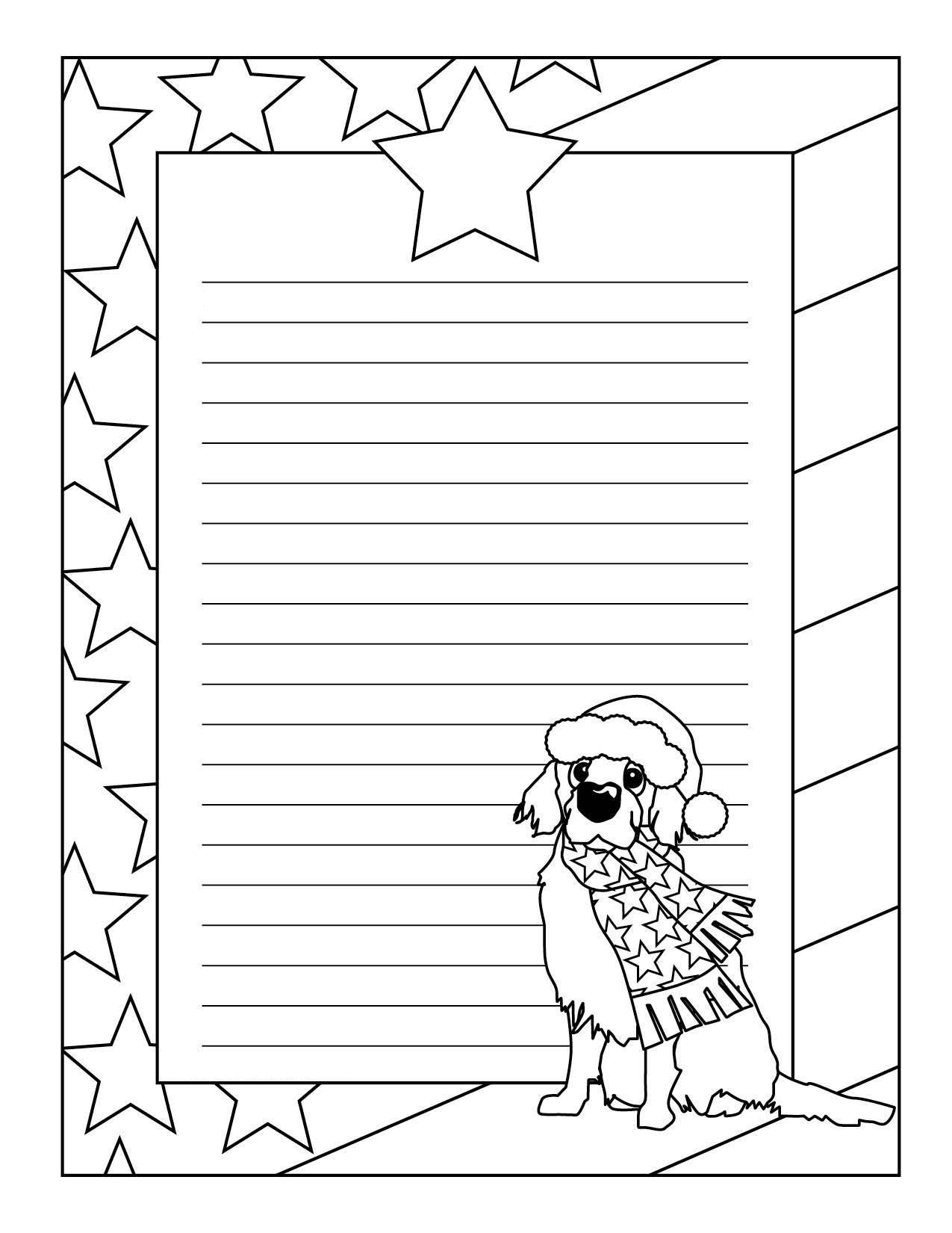 собака Детские раскраски зима распечатать