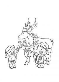 Новогодние открытки Зимние раскраски для мальчиков