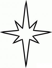 Игрушка звезда новогодняя Раскраска сказочная зима