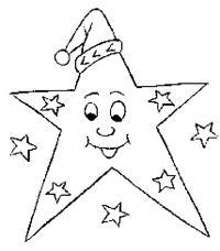 Игрушка звезда новогодняя Зимние рисунки раскраски