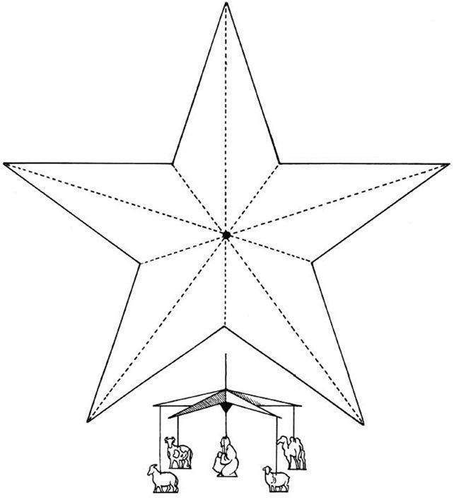 Шаблон для изготовления новогодней звезды Зимние раскраски для мальчиков