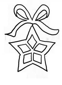 Игрушка новогодняя звезда на ленточке Рисунок раскраска на зимнюю тему