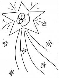 Звезда новогодняя Зимние рисунки раскраски