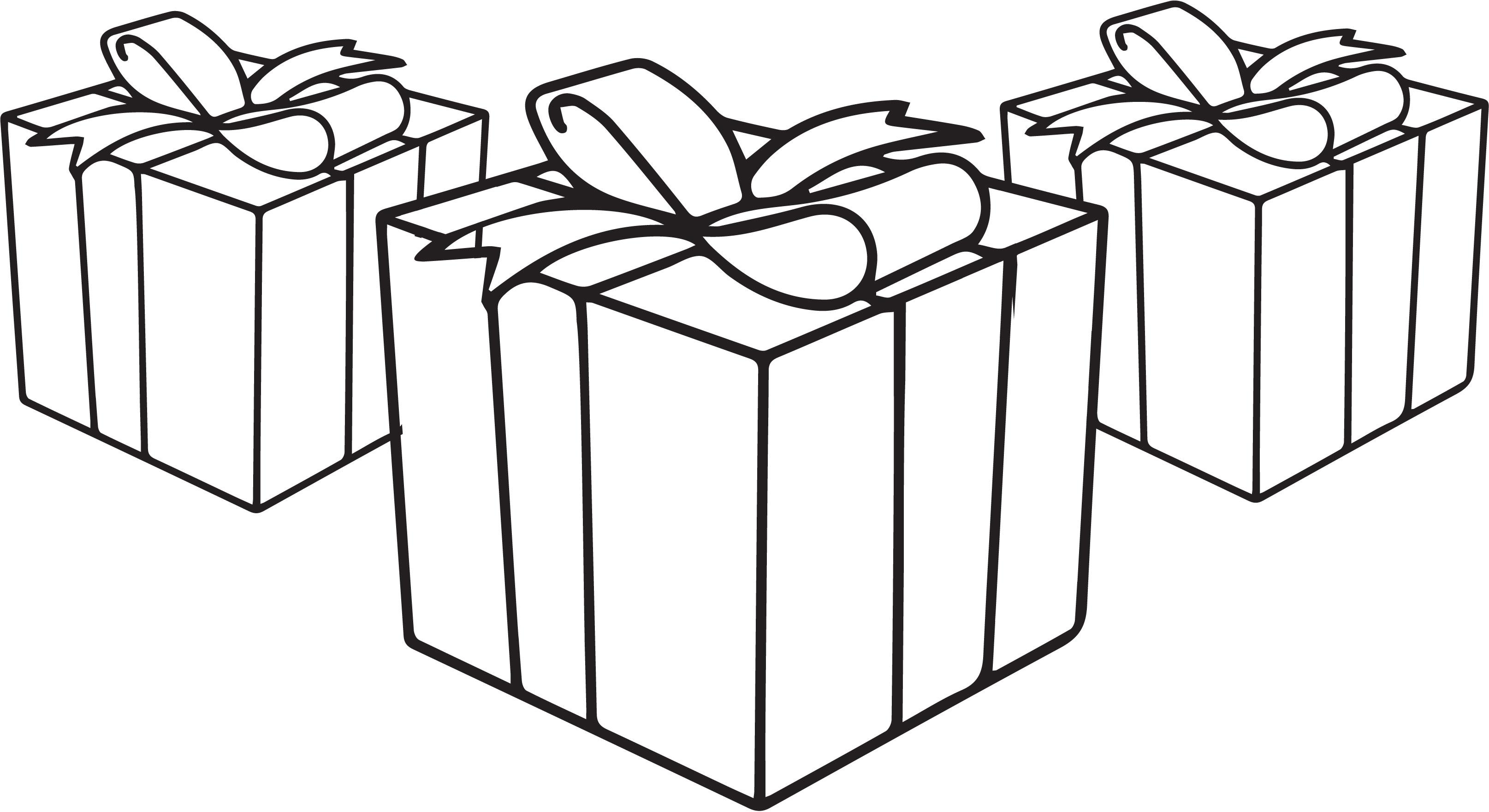 Новогодние подарки Раскраска сказочная зима