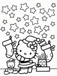 Новый год с китти Зимние раскраски для мальчиков