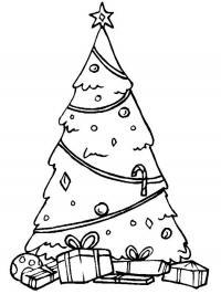 Простая елка с подарками Раскраски зимушка зима