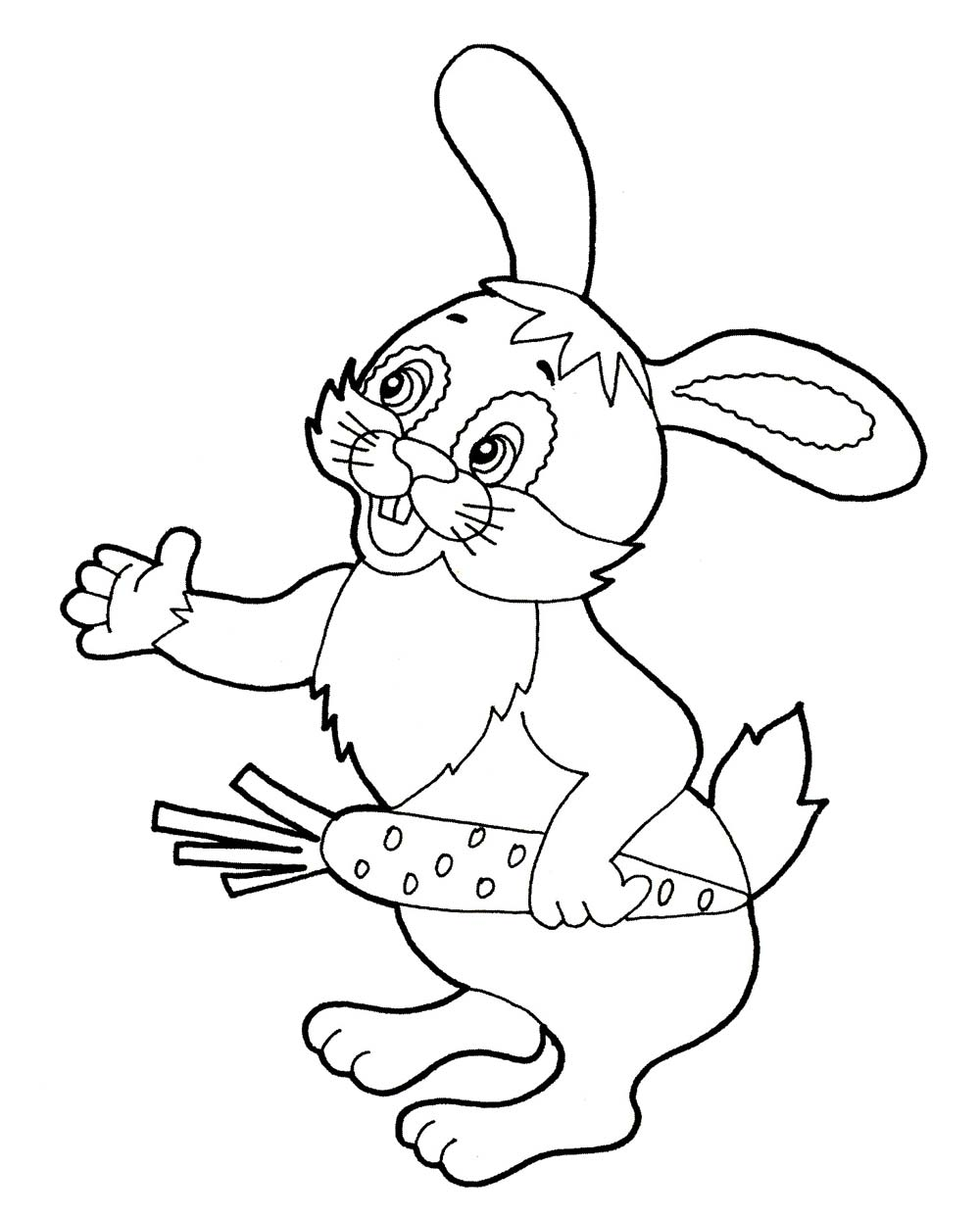 Заяц Детские раскраски зима распечатать