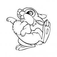 Заяц топает лапкой Детские раскраски зима распечатать