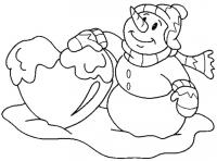 Снежное сердце Рисунок раскраска на зимнюю тему
