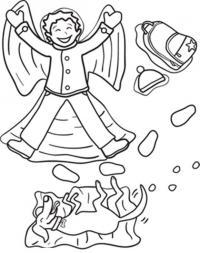 Поваляться на снегу Детские раскраски зима распечатать