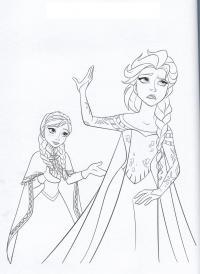 Анна и эльза Зимние раскраски для девочек