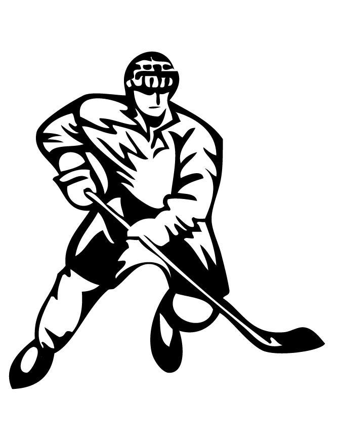 рисунок хоккеиста картинки или декорированная