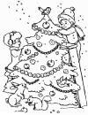 Новогодняя елка Детские раскраски зима распечатать
