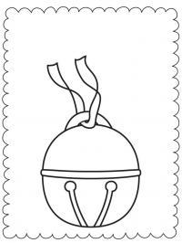 Полярный бубенец звенит Рисунок раскраска на зимнюю тему