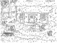 Дети на улице Раскраски на тему зима