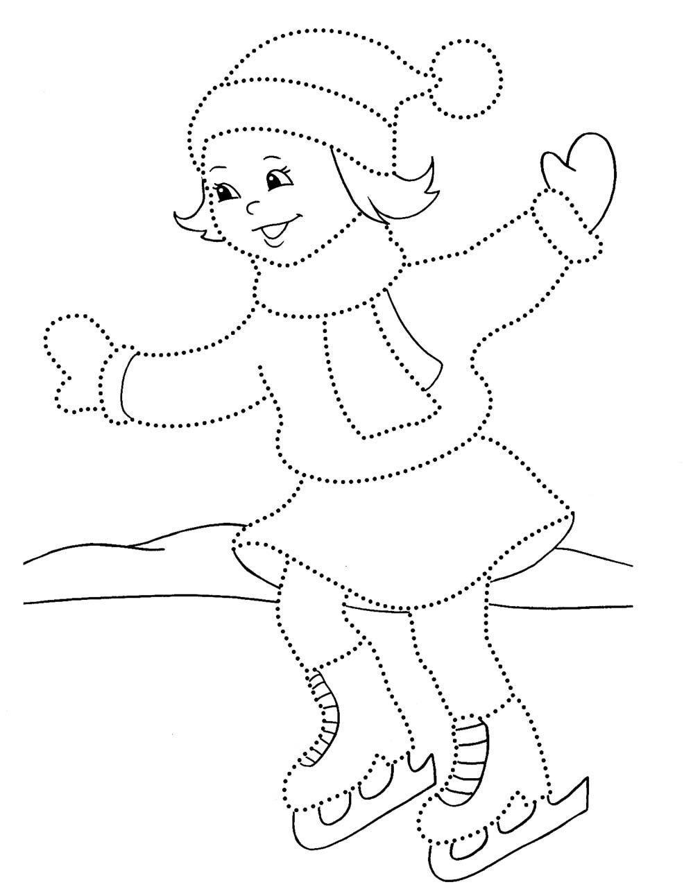 Зимние Зимние рисунки раскраски