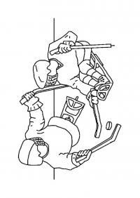 Хоккеисты Раскраски зима распечатать бесплатно