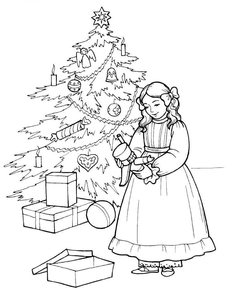 Щелкунчик Рисунок раскраска на зимнюю тему