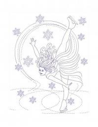Пируэты на льду Раскраски про зиму для детей