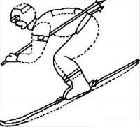 Лыжи Зимние рисунки раскраски