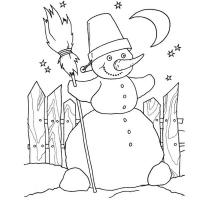 Для малышей Раскраска сказочная зима