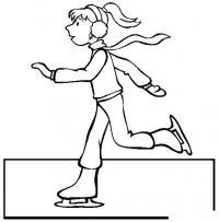 Бег на коньках Раскраски про зиму для детей
