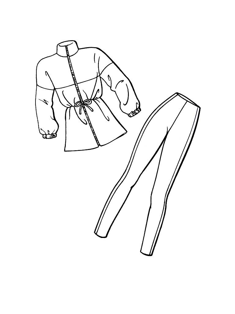 Зимняя одежда для барби Раскраска зима пришла