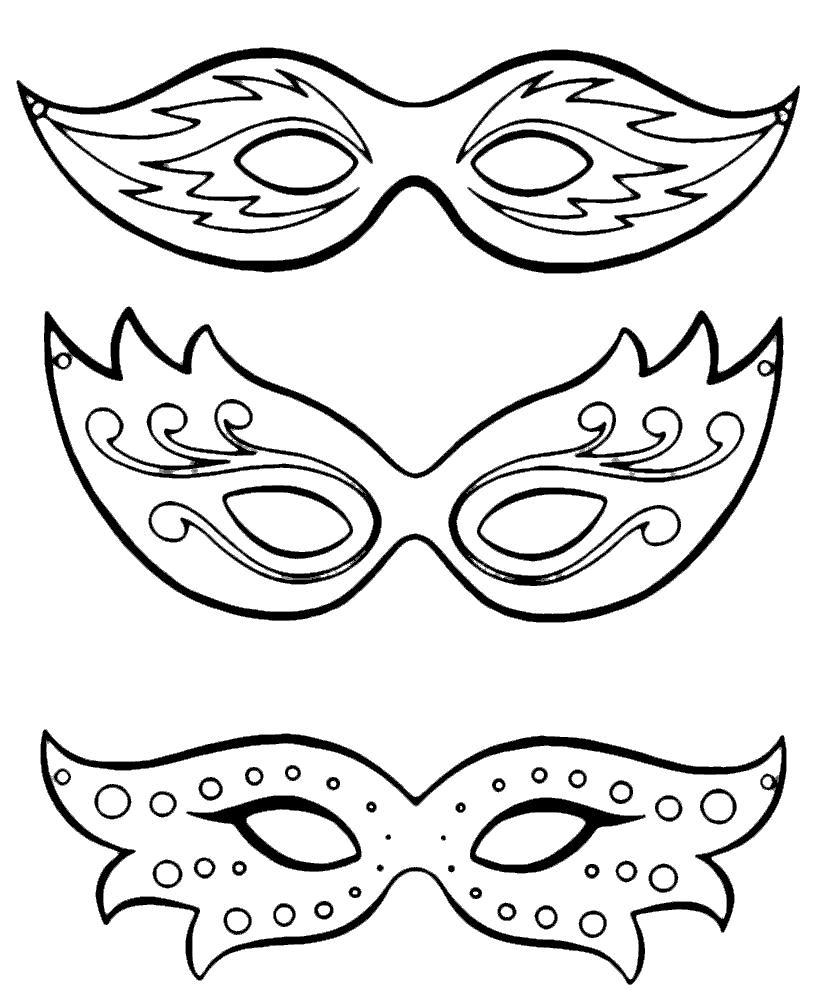 Красивые маски Рисунок раскраска на зимнюю тему