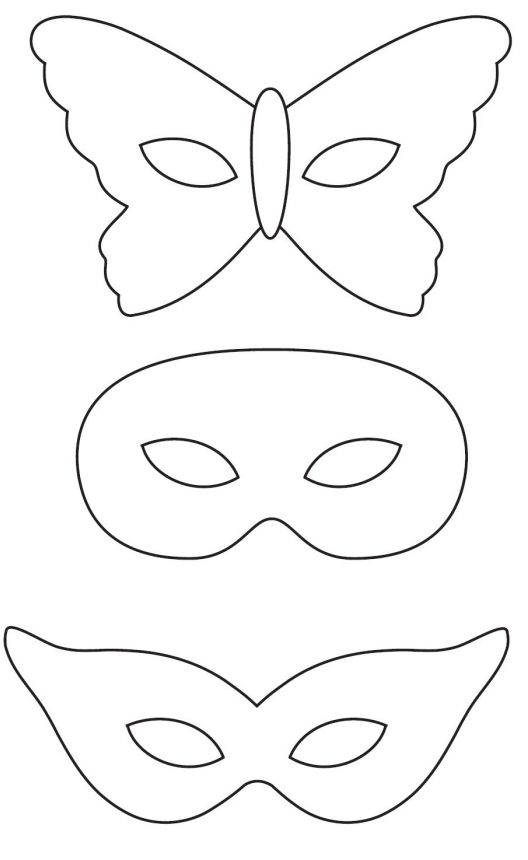 Разные маски Раскраски про зиму для детей