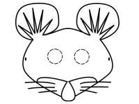 Маска мышки Раскраски про зиму для детей