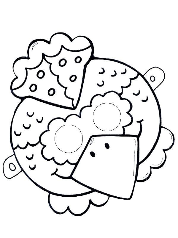 Маска петушка Раскраски про зиму для детей