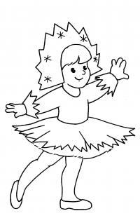 Девочка снежинка Раскраски про зиму для детей