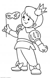 В костюме принца Раскраски про зиму для детей