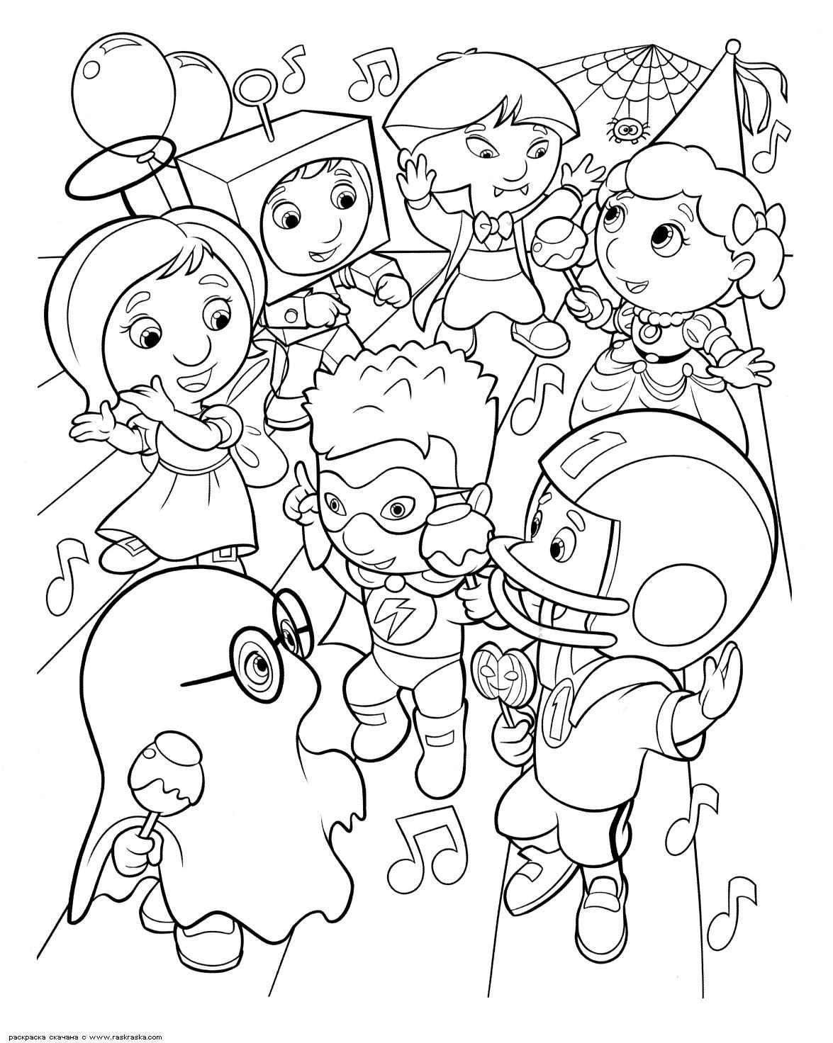 Карнавал на новый год Раскраски про зиму для детей