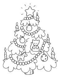 Елочка украшенная свечами Зимние раскраски для девочек